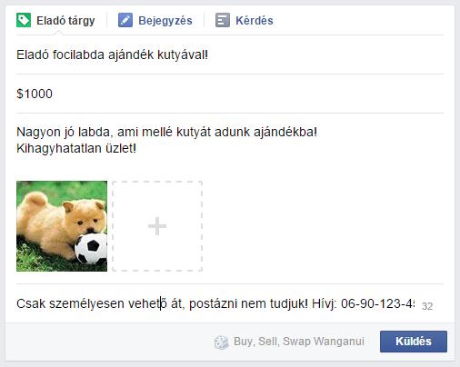 facebook csoport termék eladása funkció 3