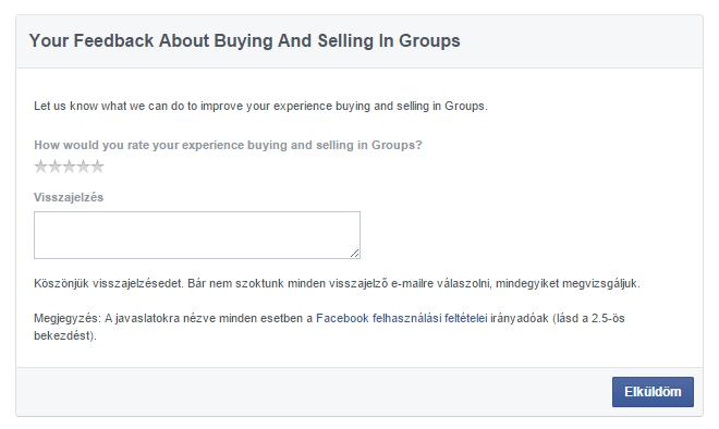 facebook csoport termék eladása funkció 7
