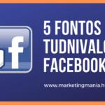 5 fontos tudnivaló a Facebookról